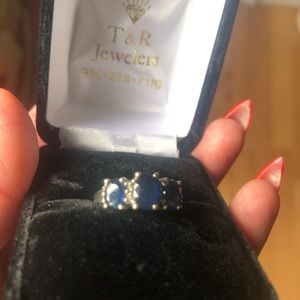 Jewelry - Sapphire and white gold ring